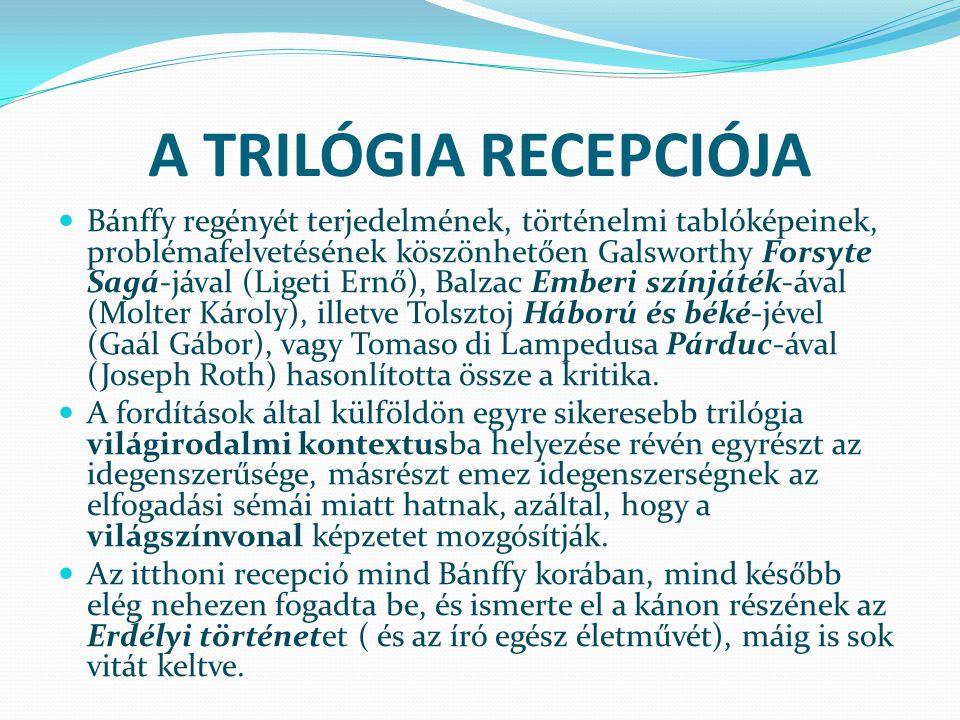 A TRILÓGIA RECEPCIÓJA