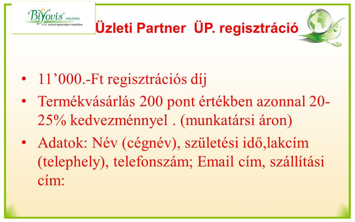 Üzleti Partner ÜP. regisztráció