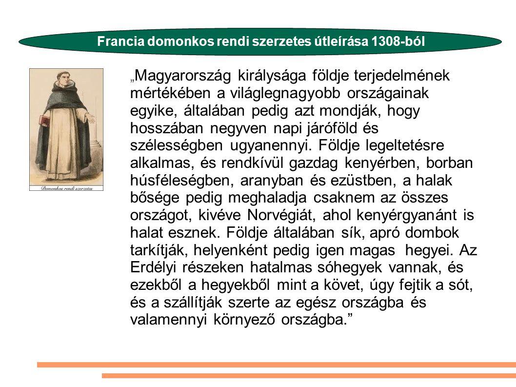 Francia domonkos rendi szerzetes útleírása 1308-ból