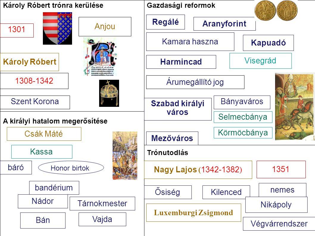 Regálé Anjou Aranyforint 1301 Kamara haszna Kapuadó Károly Róbert