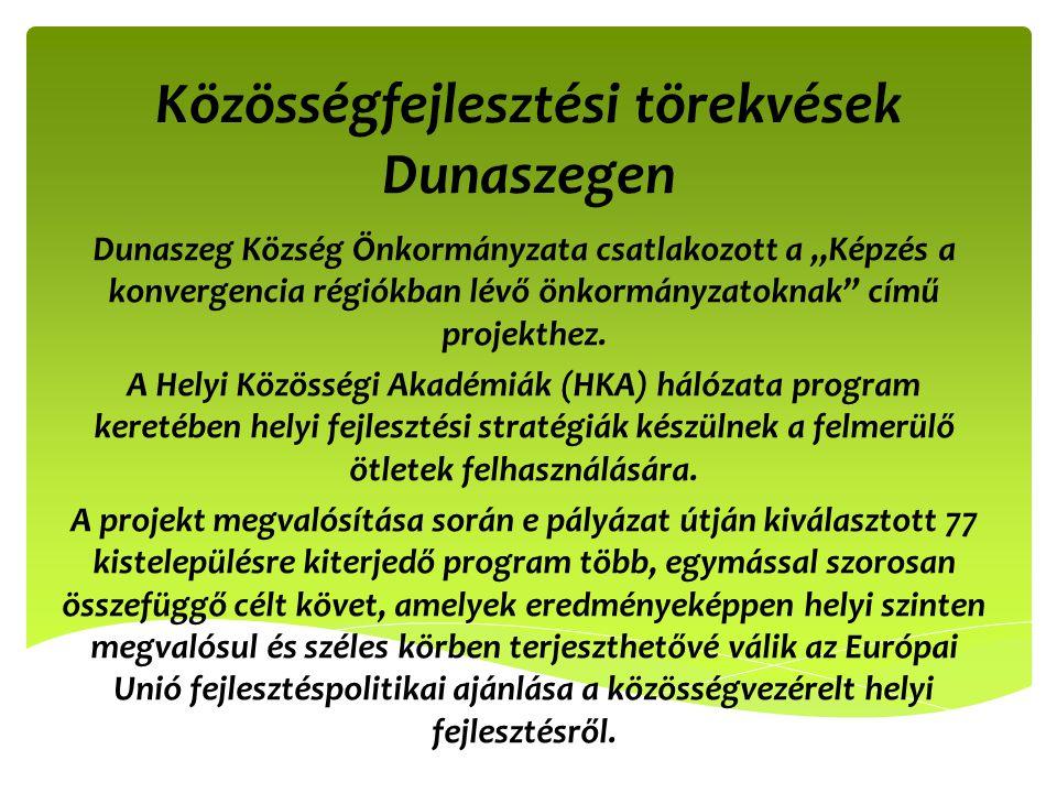 Közösségfejlesztési törekvések Dunaszegen