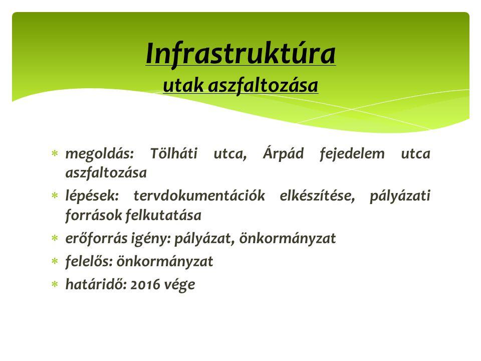 Infrastruktúra utak aszfaltozása