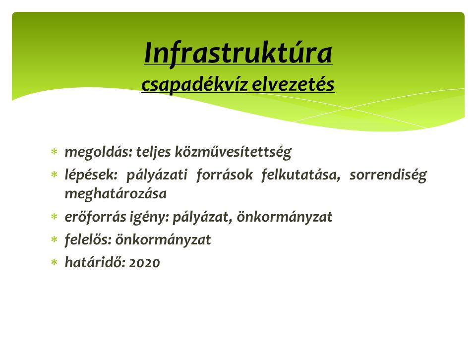 Infrastruktúra csapadékvíz elvezetés