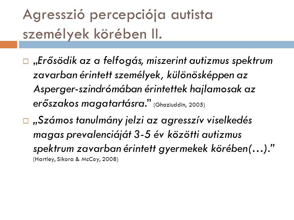 Agresszió percepciója autista személyek körében II.