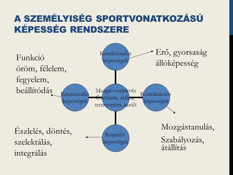 A személyiség sportvonatkozású képesség rendszere