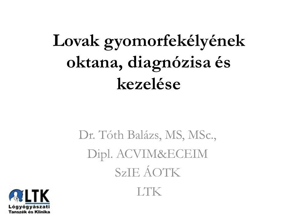 Lovak gyomorfekélyének oktana, diagnózisa és kezelése