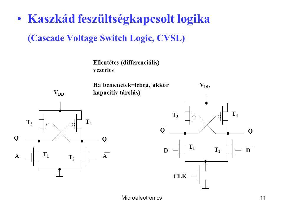 Kaszkád feszültségkapcsolt logika (Cascade Voltage Switch Logic, CVSL)