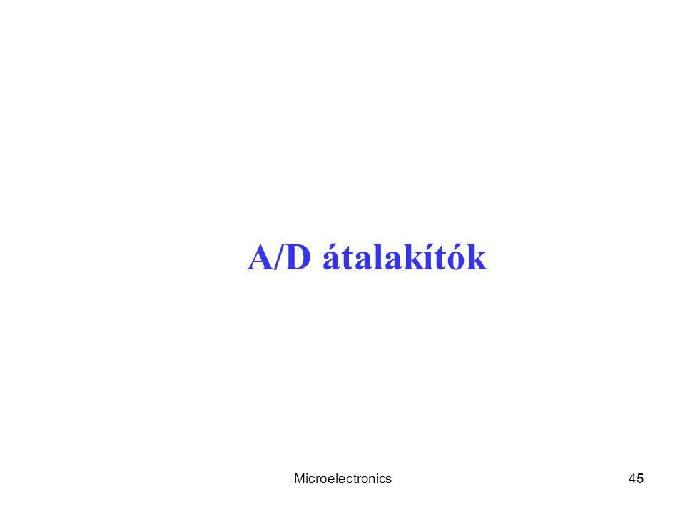 A/D átalakítók Microelectronics