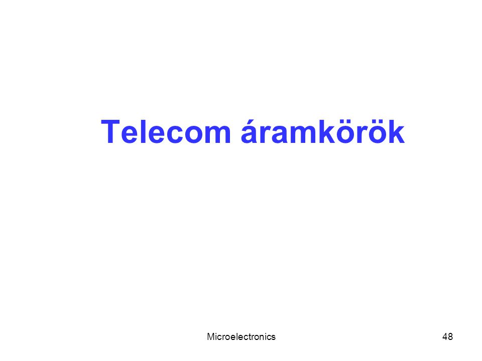 Telecom áramkörök Microelectronics