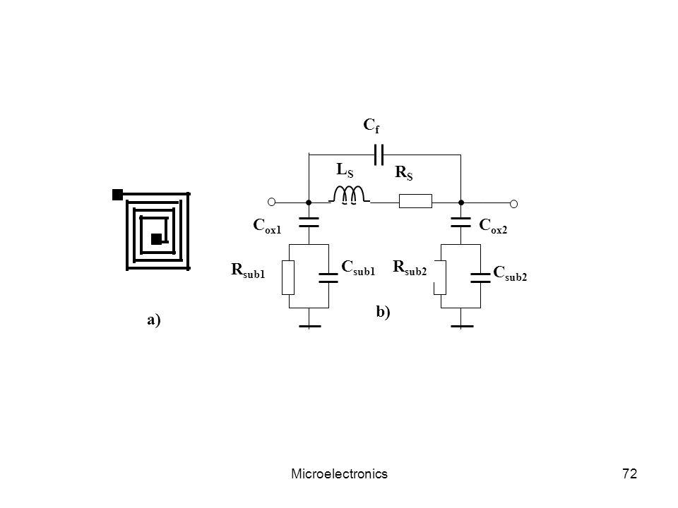 LS Csub2 Cox1 Csub1 Cox2 Rsub1 RS Rsub2 Cf a) b) Microelectronics