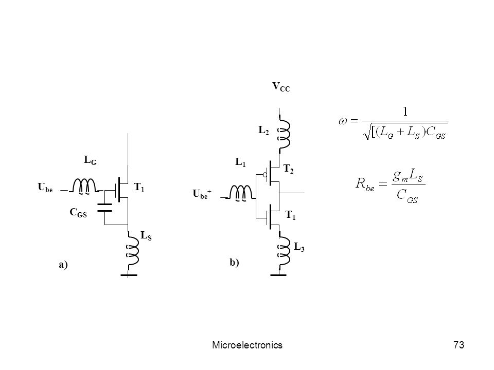 L1 T1 T2 Ube+ VCC L3 L2 LG Ube LS CGS a) b) Microelectronics
