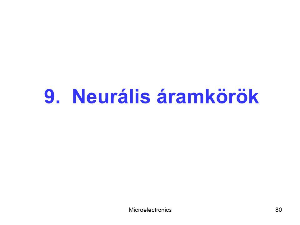 9. Neurális áramkörök Microelectronics
