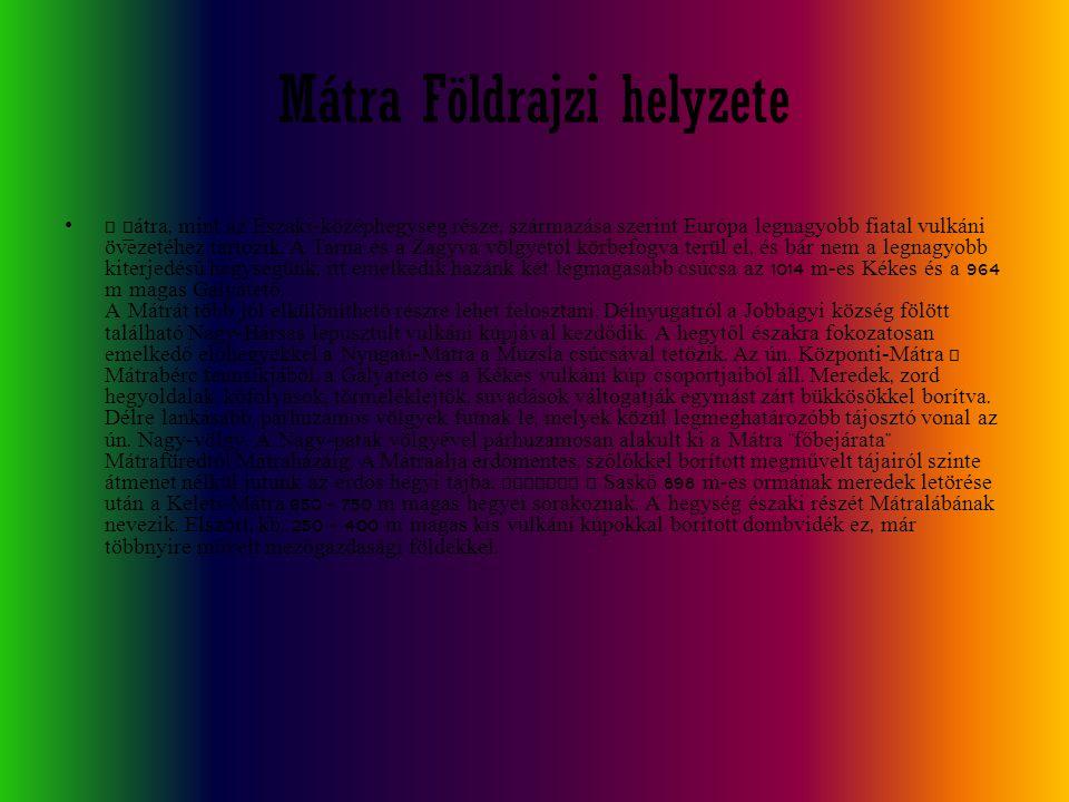 Mátra Földrajzi helyzete
