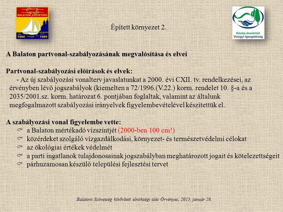 A Balaton partvonal-szabályozásának megvalósítása és elvei