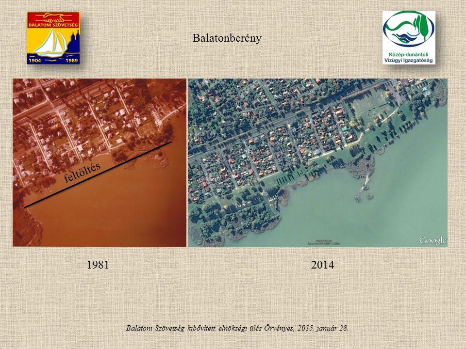 Balatonberény feltöltés 1981 2014