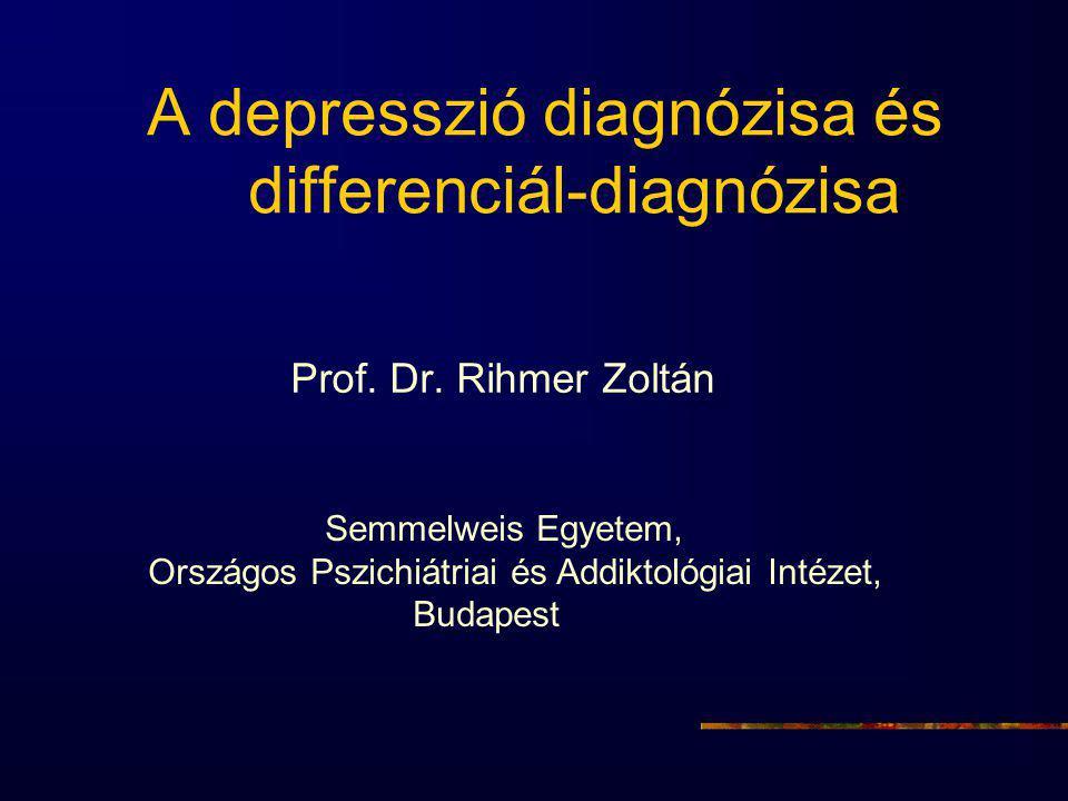 A depresszió diagnózisa és differenciál-diagnózisa
