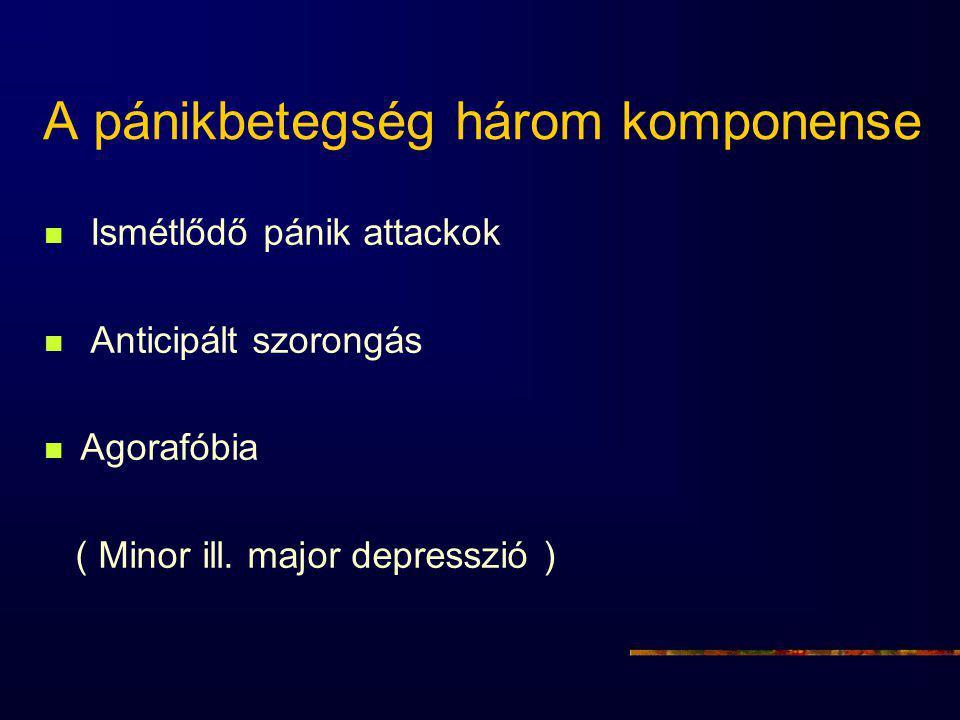 A pánikbetegség három komponense