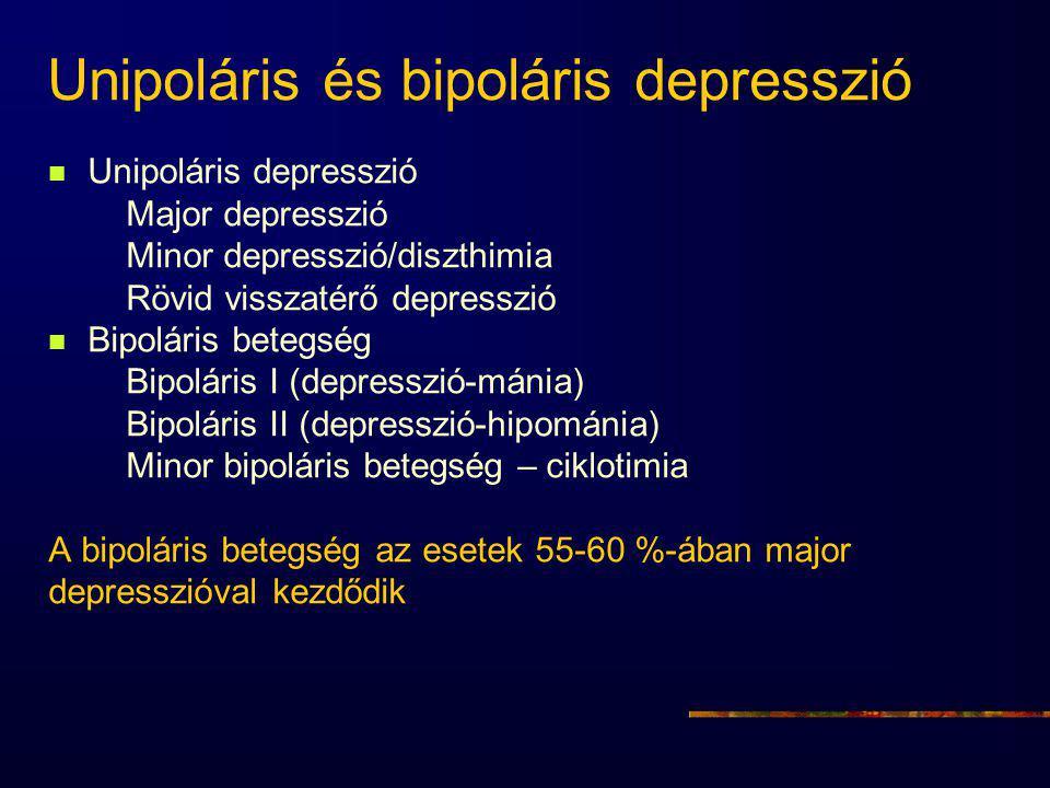 Unipoláris és bipoláris depresszió