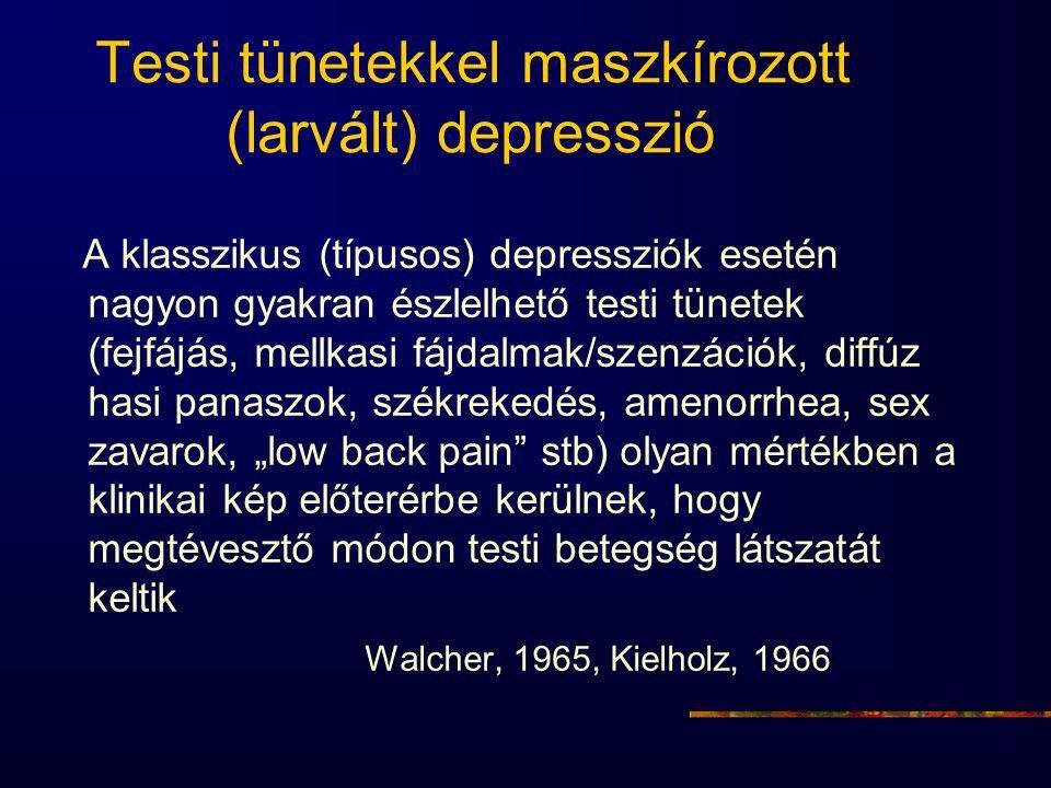 Testi tünetekkel maszkírozott (larvált) depresszió