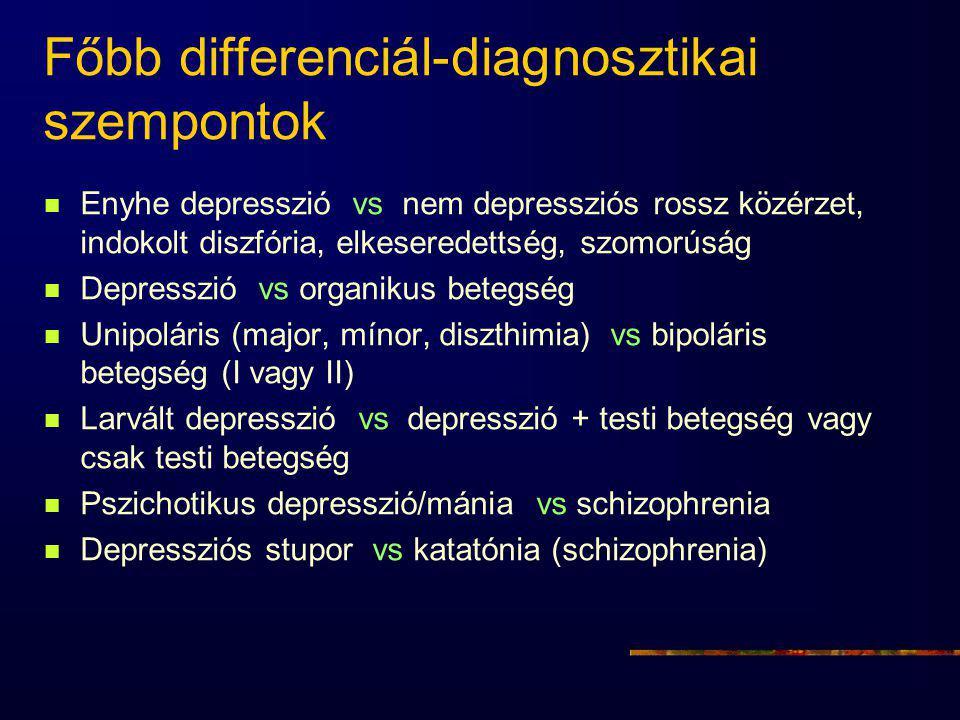 Főbb differenciál-diagnosztikai szempontok