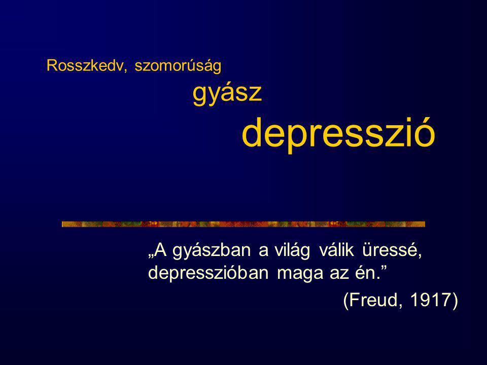 Rosszkedv, szomorúság gyász depresszió