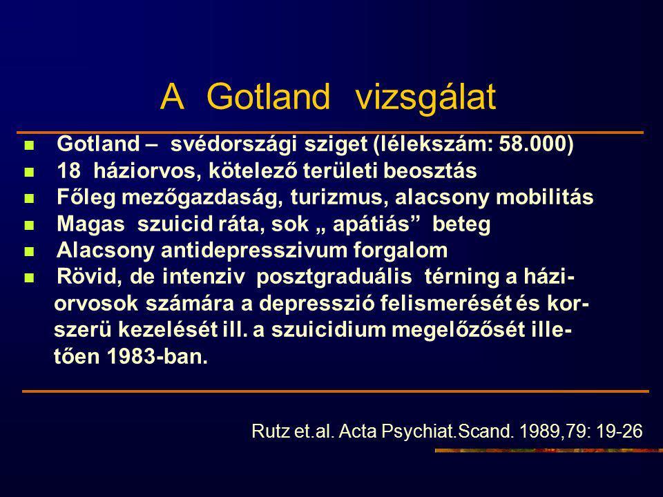 A Gotland vizsgálat Gotland – svédországi sziget (lélekszám: 58.000)