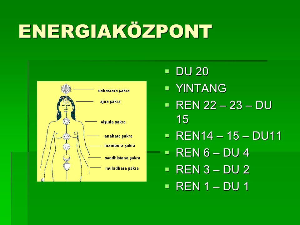 ENERGIAKÖZPONT DU 20 YINTANG REN 22 – 23 – DU 15 REN14 – 15 – DU11