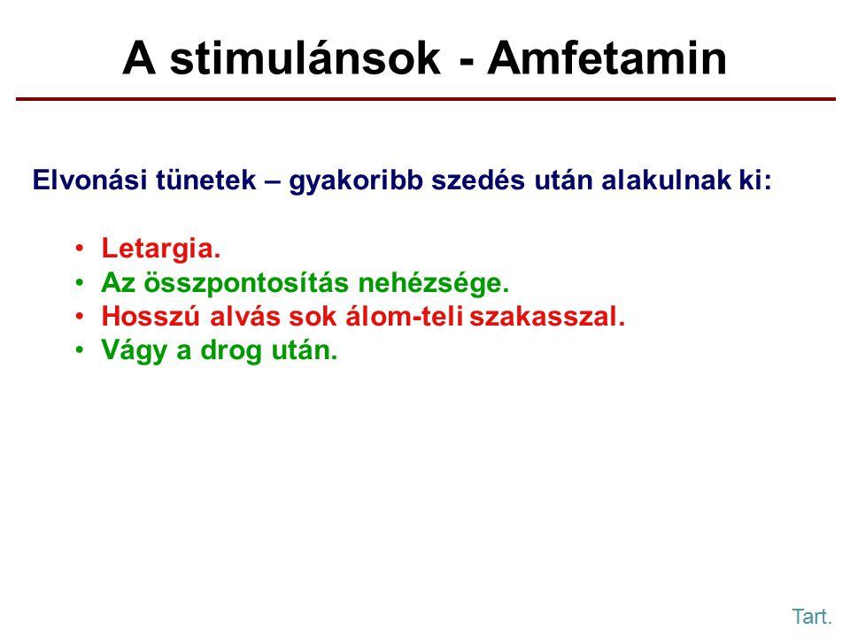 A stimulánsok - Amfetamin