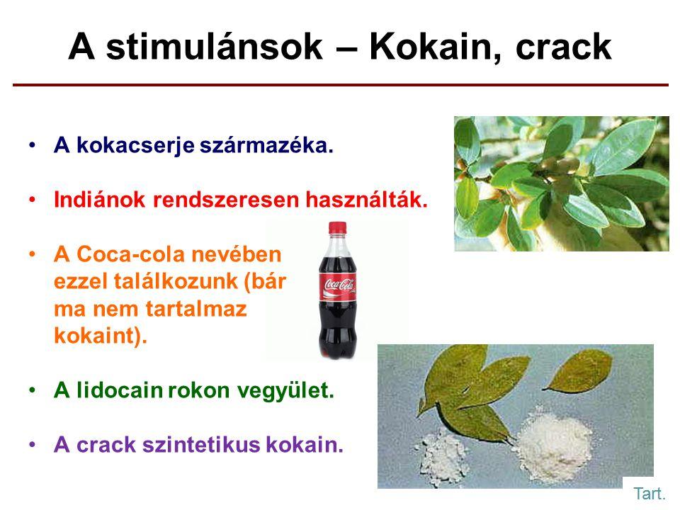 A stimulánsok – Kokain, crack