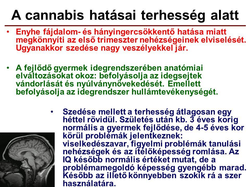 A cannabis hatásai terhesség alatt