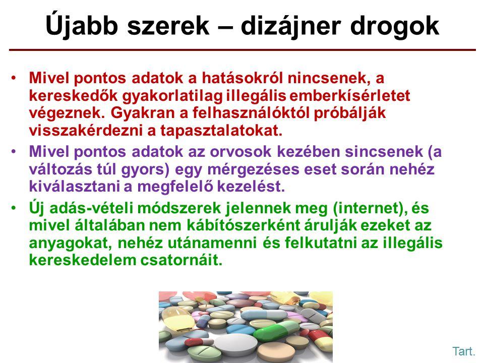 Újabb szerek – dizájner drogok