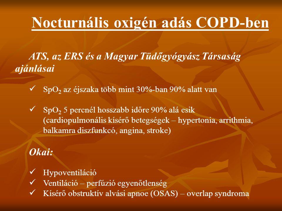 Nocturnális oxigén adás COPD-ben