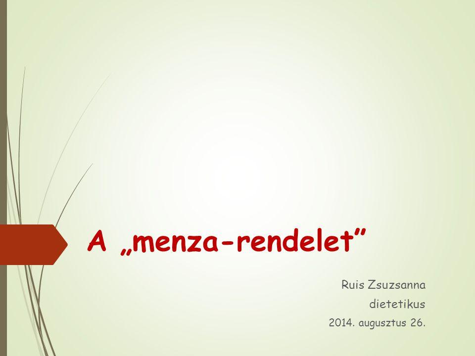 Ruis Zsuzsanna dietetikus 2014. augusztus 26.