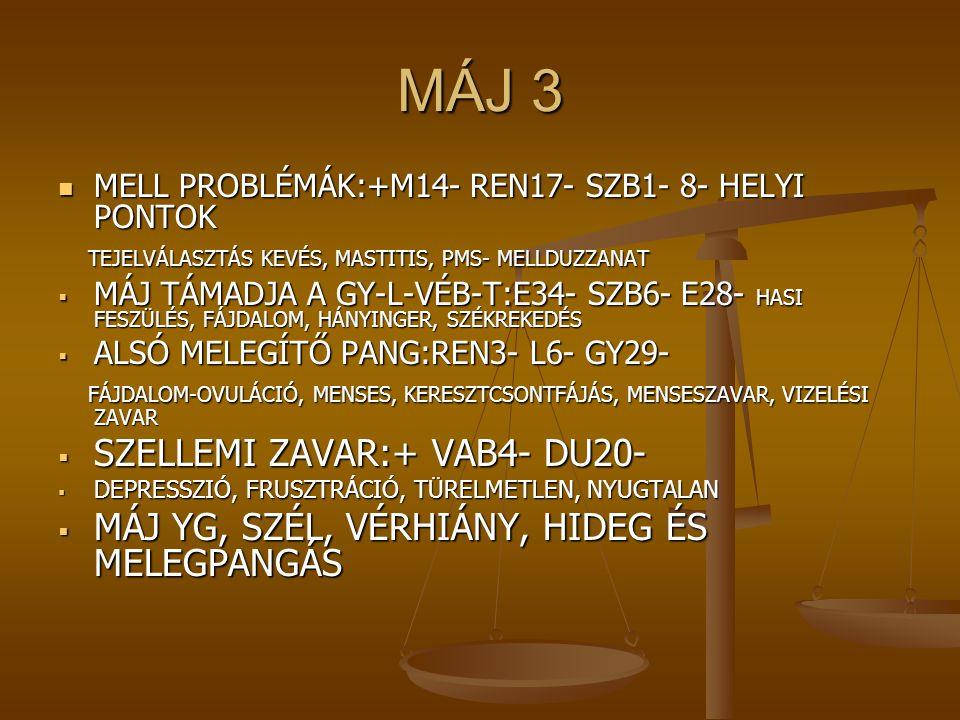 MÁJ 3 SZELLEMI ZAVAR:+ VAB4- DU20-