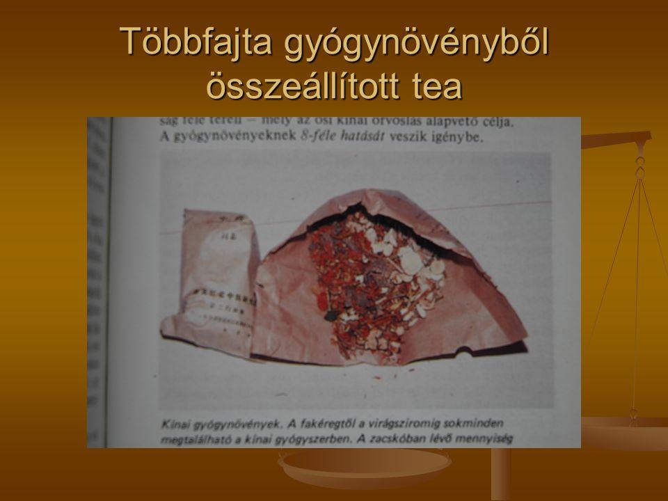 Többfajta gyógynövényből összeállított tea