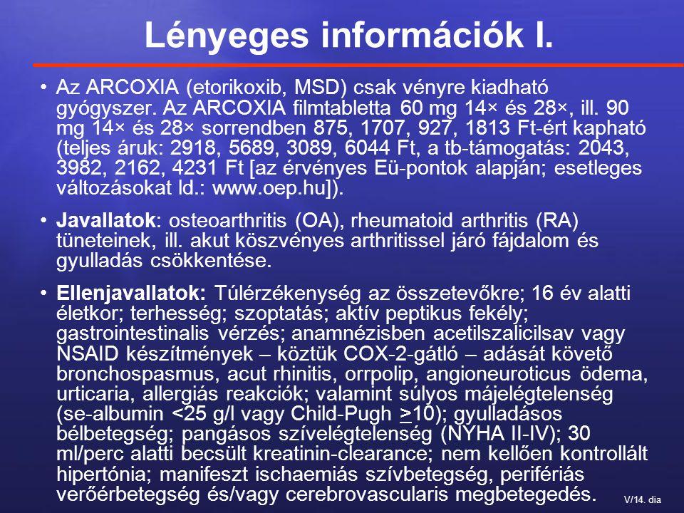 Lényeges információk I.