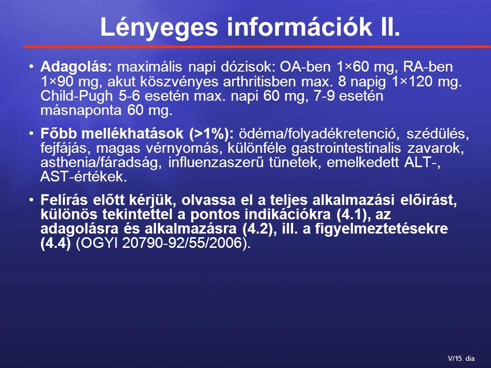 Lényeges információk II.