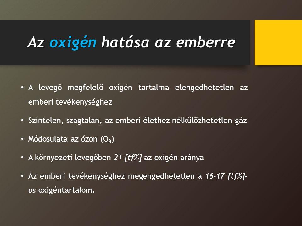 Az oxigén hatása az emberre