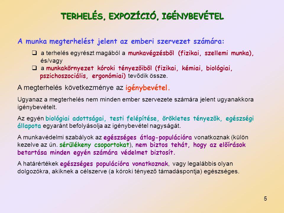 TERHELÉS, EXPOZÍCIÓ, IGÉNYBEVÉTEL