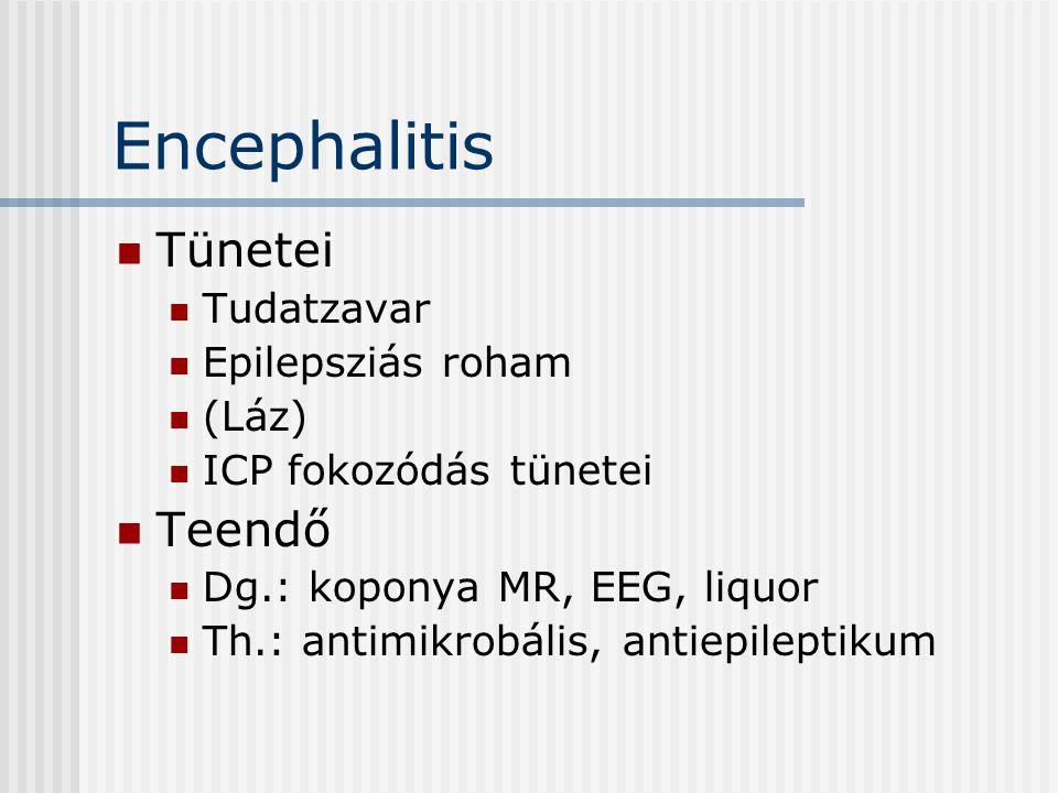Encephalitis Tünetei Teendő Tudatzavar Epilepsziás roham (Láz)