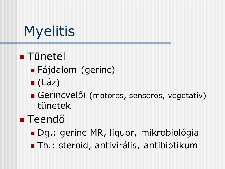 Myelitis Tünetei Teendő Fájdalom (gerinc) (Láz)