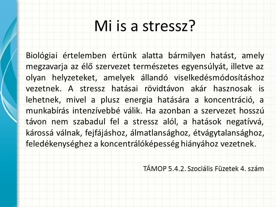 Mi is a stressz