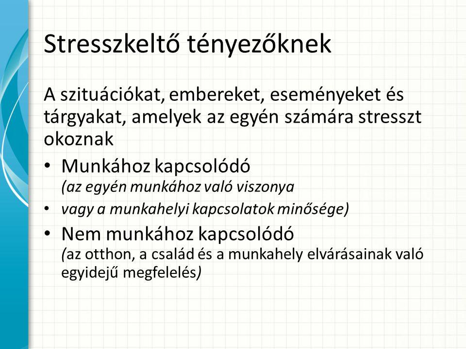 Stresszkeltő tényezőknek