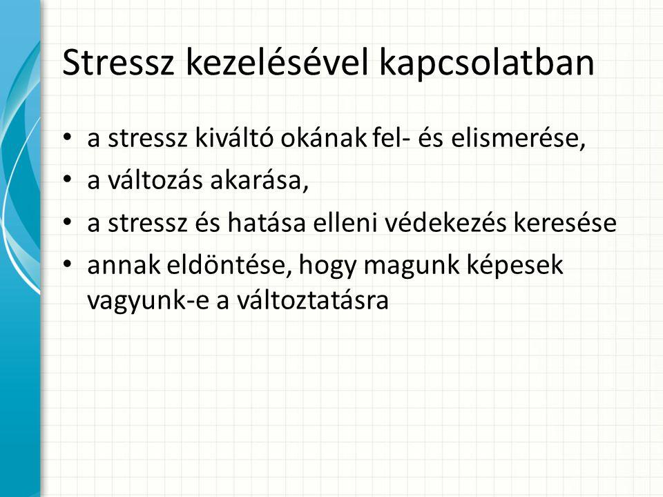 Stressz kezelésével kapcsolatban