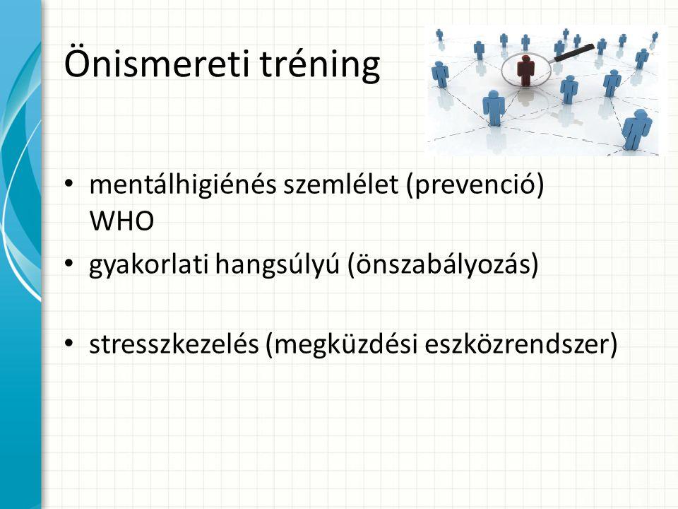 Önismereti tréning mentálhigiénés szemlélet (prevenció) WHO