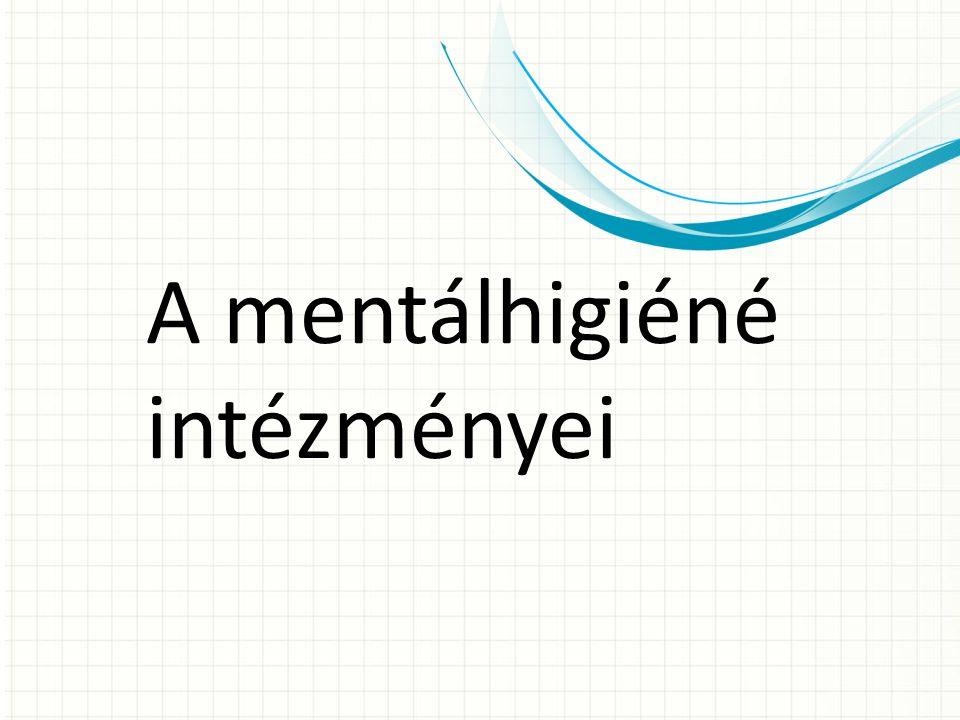 A mentálhigiéné intézményei