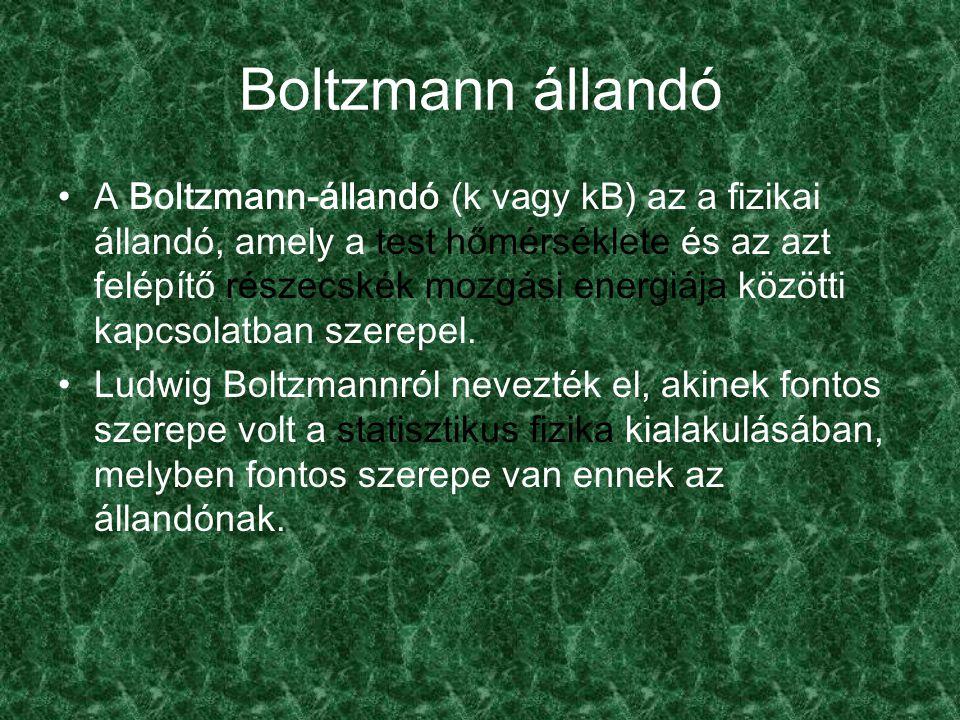 Boltzmann állandó