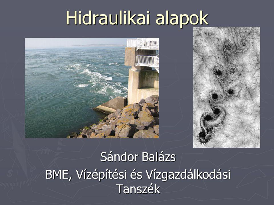 Sándor Balázs BME, Vízépítési és Vízgazdálkodási Tanszék