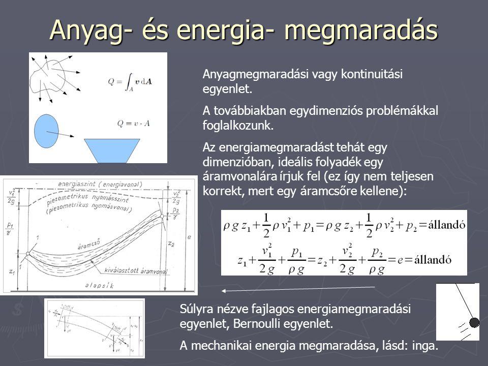 Anyag- és energia- megmaradás