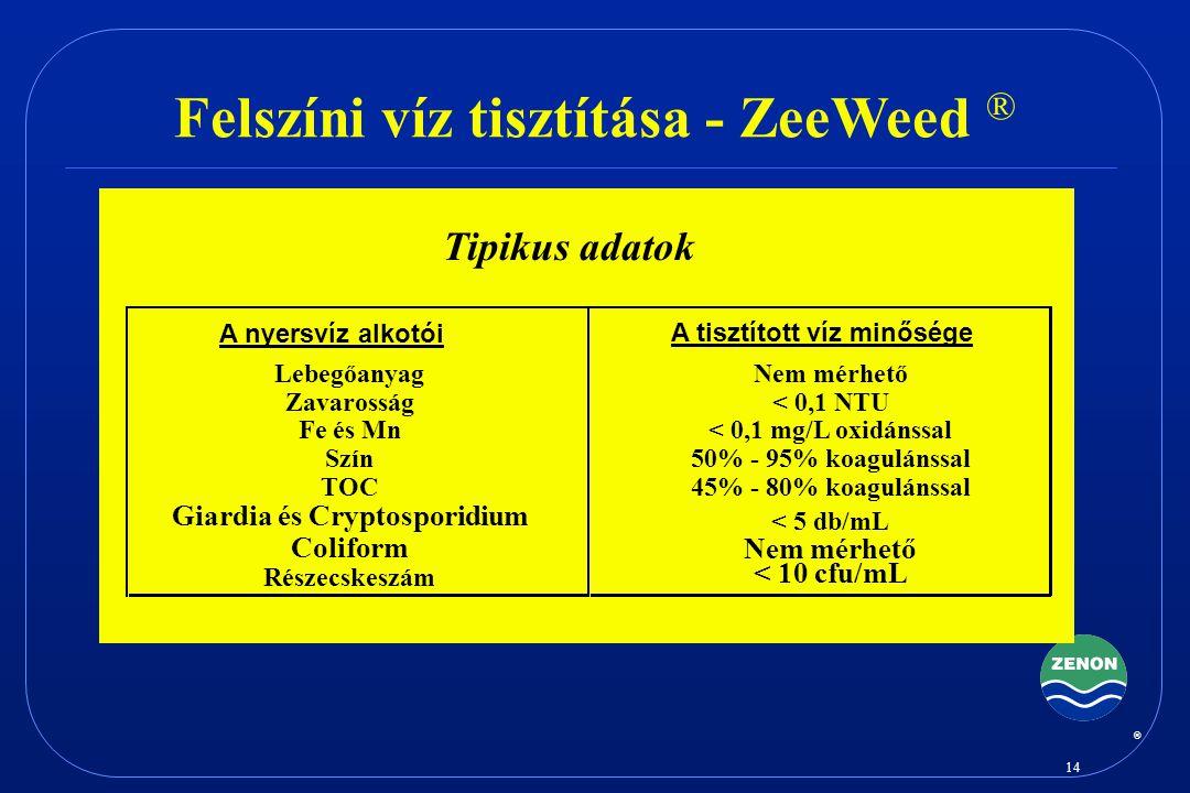Felszíni víz tisztítása - ZeeWeed ®
